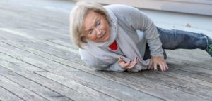 older woman slip and fall